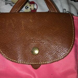 Pink Longchamp backpack